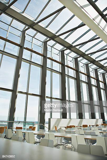 Open floor plan office