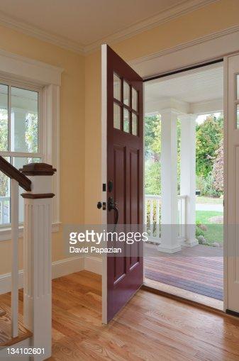 Open Front Door Welcome open front door of home interior stock photo   getty images