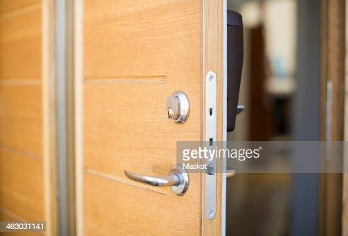 Open front door