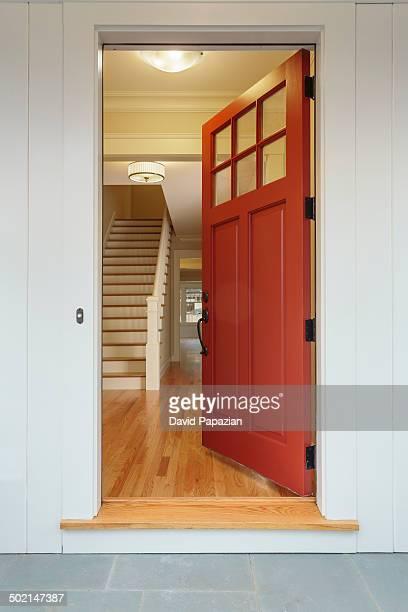 Open front door to new home