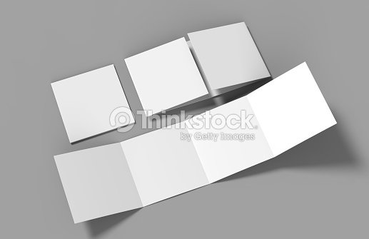 open gate fold brochure 4 panel and eight pages leaflet blank white