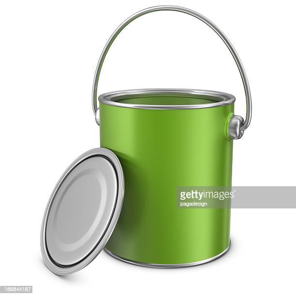 open green paint can
