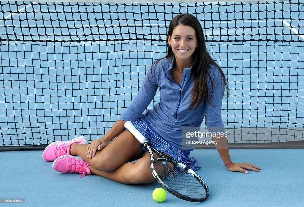 Ipek Soylu  Open-junior-girls-doubles-winner-from-turkey-ipek-soylu-poses-with-picture-id455640600