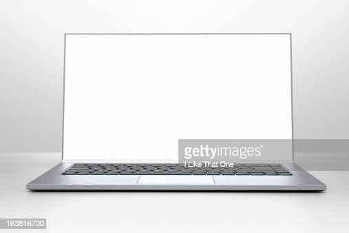 Open laptop computer with bright screen