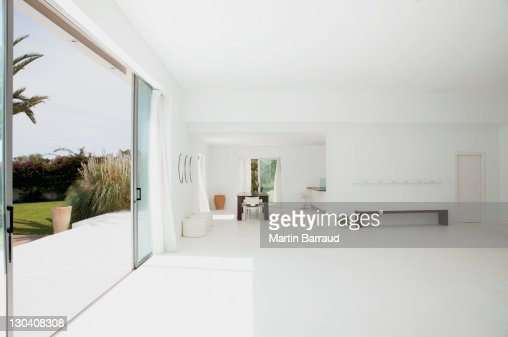 Open living space of modern house : Stock Photo