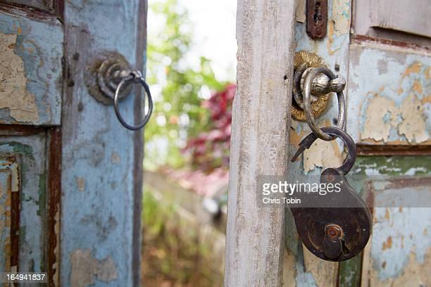 Open lock on old door