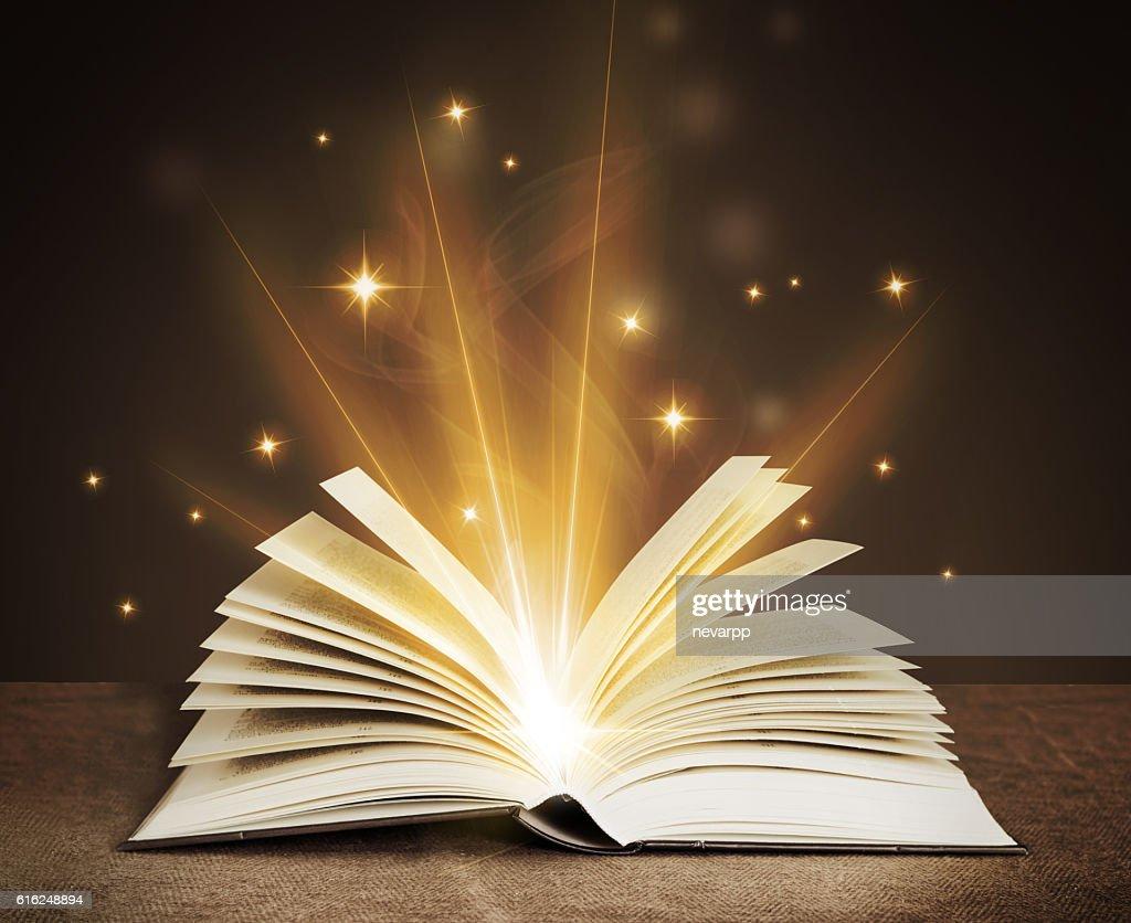 open magical book : Foto de stock