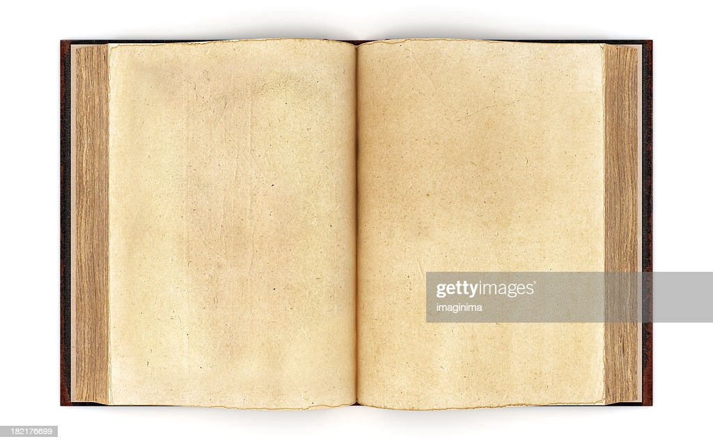 Open Old Book Clipping Path Stock Photo Getty Images