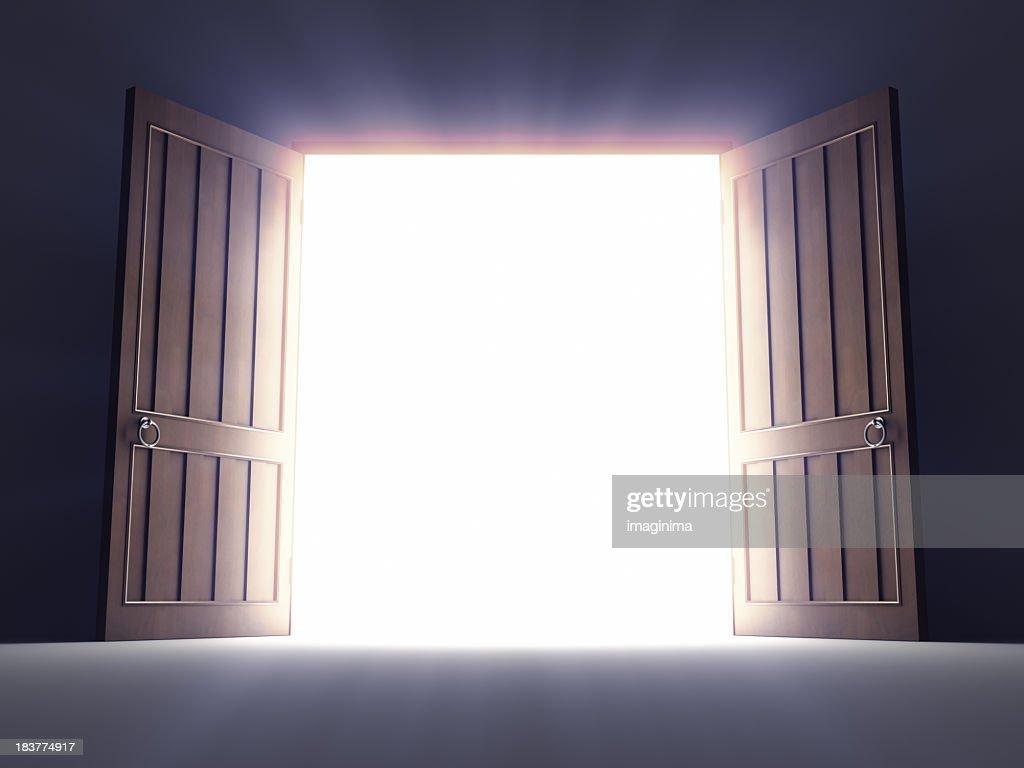 Open Old Doors : Stock Photo