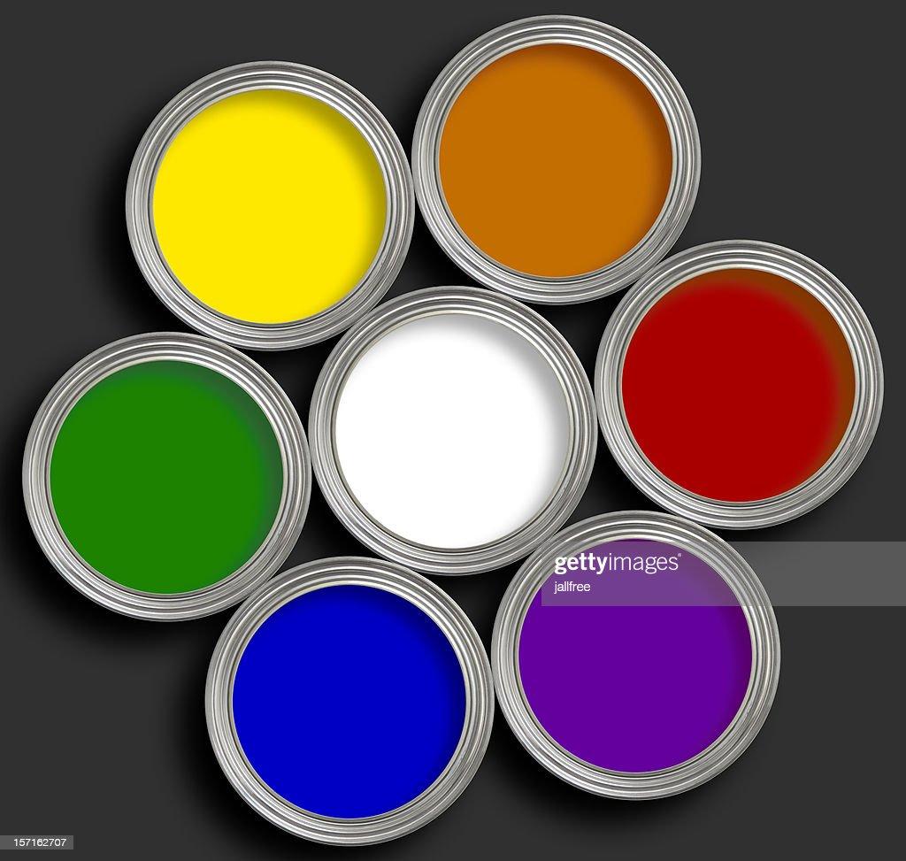 Open Paint Tins