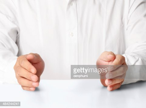 Open palm  hand : Stock Photo