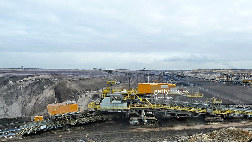 CONTENT] Open pit, coal mine in Brandenburg Germany.