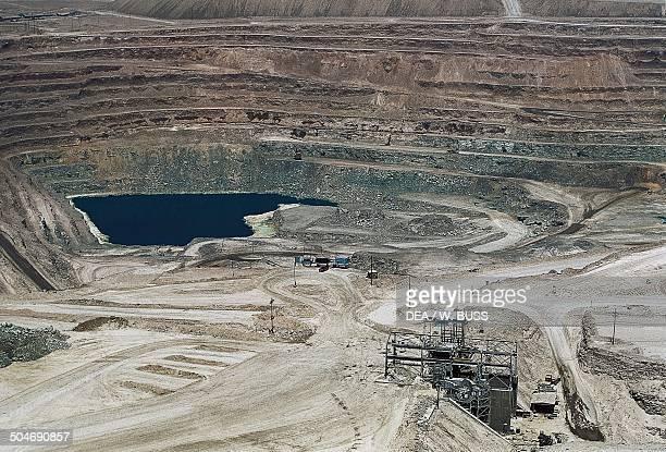 Open pit copper mine of Chuquicamata or Chuqui Antofagasta Region Chile