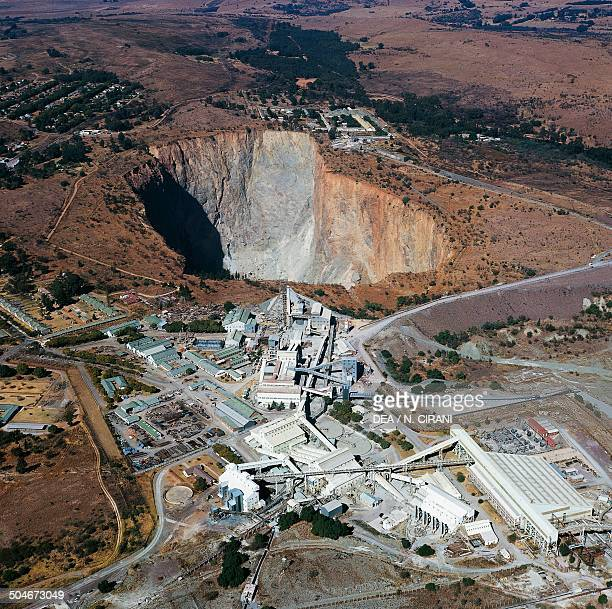 Open pit diamond mine Pretoria South Africa