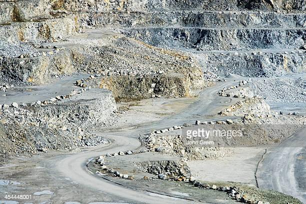 Open pit granite quarry