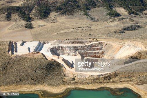 Open pit mine : Bildbanksbilder