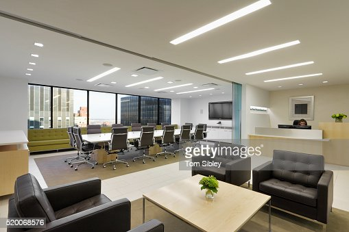 Open Plan Office Lobby Stock Photo | Getty Images