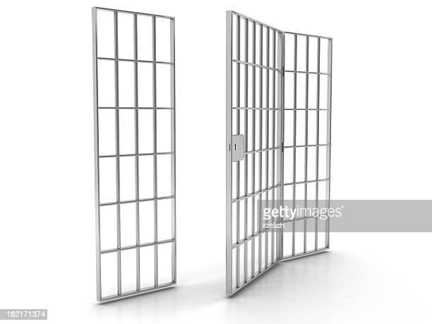 Open prison bars