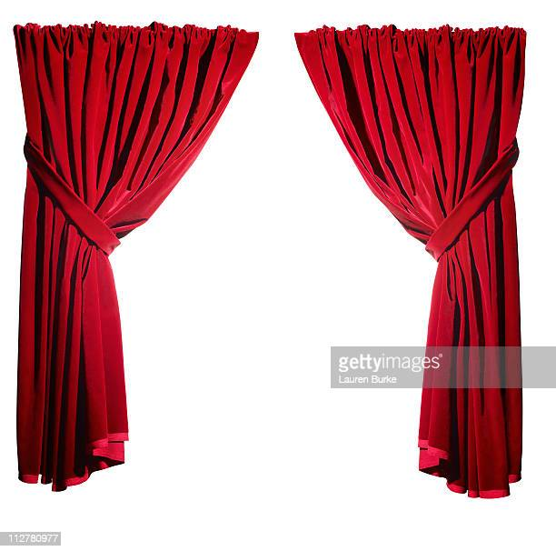 Open Red Velvet Curtains