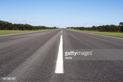 open road and horizon