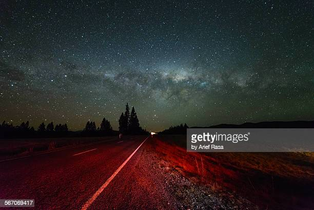 Open Road And Milky Way Galaxy