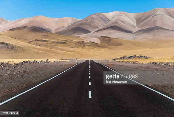 Open road in Andes, Fiambala, Catamarca Province, Argentina