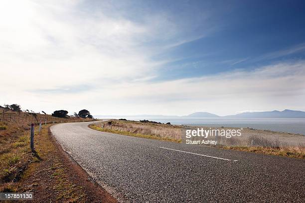 Open road in tasmania