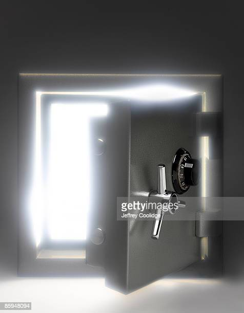 Open Safe with Glowing Light
