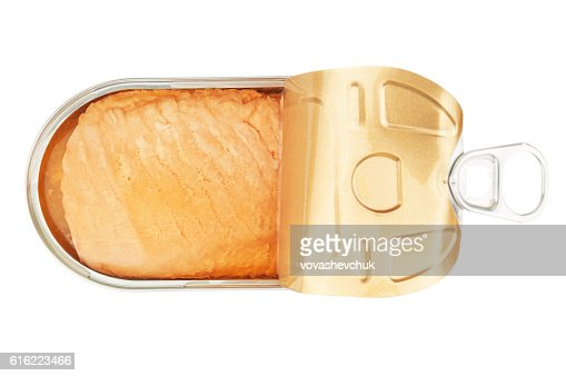 open salmon tin : Stockfoto