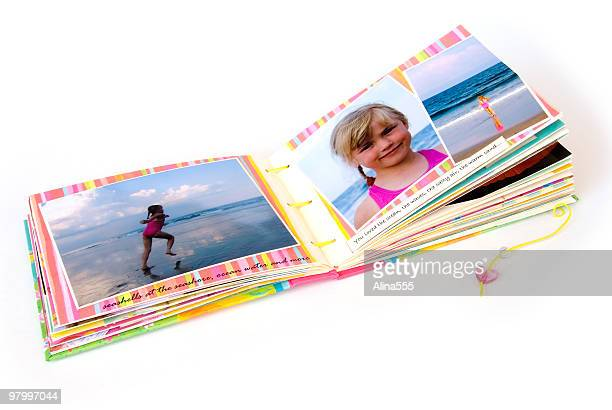 Open scrapbook album