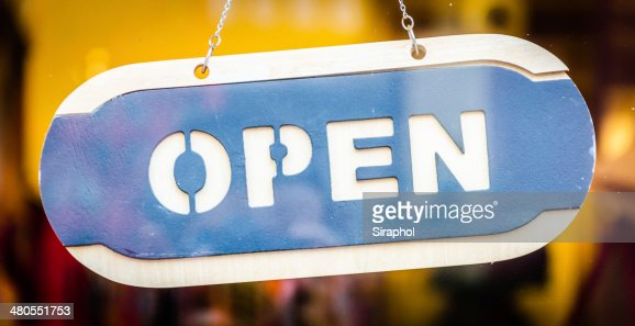 Open sign : Stock Photo