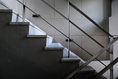 Open stairwell in a modern building