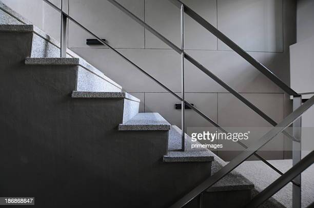 Open stairwell in a modern building