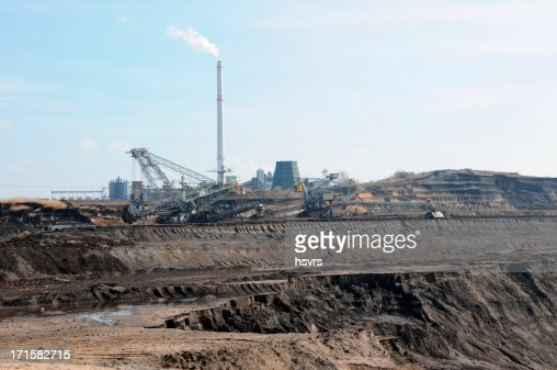open Strip Coal mine with power station