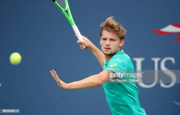 S Open Tennis Tournament DAY SIX David Goffin of Belgium in action against Gael Monfils of France in the Men's Singles round three match at the US...