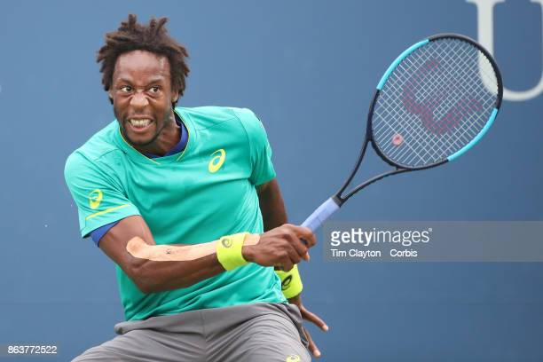 S Open Tennis Tournament DAY SIX Gael Monfils of France in action against David Goffin of Belgium in the Men's Singles round three match at the US...