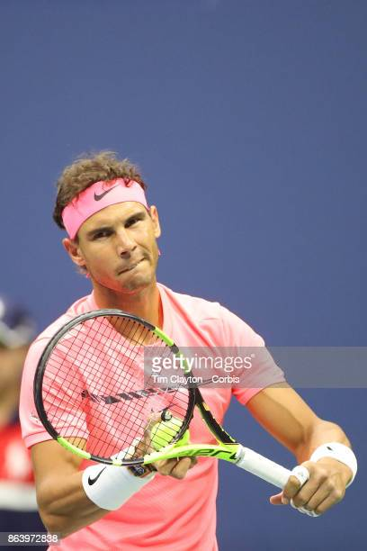 S Open Tennis Tournament DAY SIX Rafael Nadal of Spain in action against Leonardo Mayer of Argentina in the Men's Singles round three match at the US...