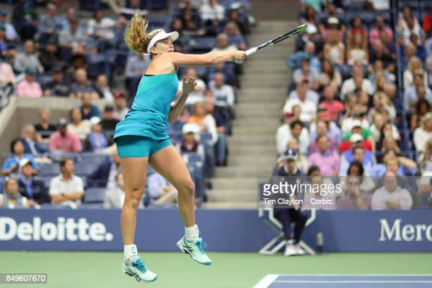 S Open Tennis Tournament DAY TEN CoCo Vandeweghe of the United States in action against Karolina Pliskova of the Czech Republic in the Women's...