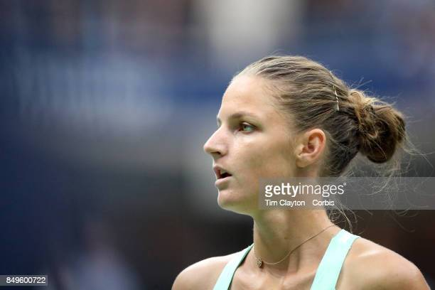 S Open Tennis Tournament DAY TEN Karolina Pliskova of the Czech Republic in action against CoCo Vandeweghe of the United States in the Women's...