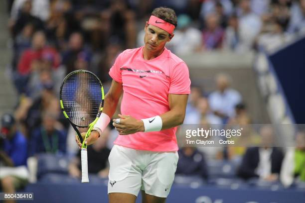 S Open Tennis Tournament DAY TEN Rafael Nadal of Spain in action against Andrey Rublev of Russia in the Men's Singles Quarterfinal match at the US...