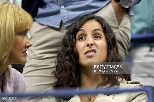 S Open Tennis Tournament DAY TEN Xisca Perello partner of Rafael Nadal of Spain watches his match against Andrey Rublev of Russia in the Men's...