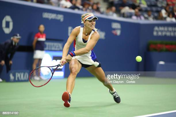 S Open Tennis Tournament DAY TWO Angelique Kerber of German in action against Naomi Osaka of Japan during the Women's Singles round one at the US...