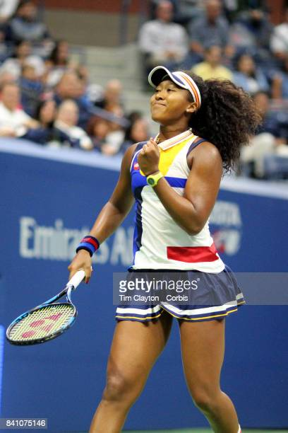 S Open Tennis Tournament DAY TWO Naomi Osaka of Japan during her victory against Angelique Kerber of German during the Women'u2019s Singles round one...