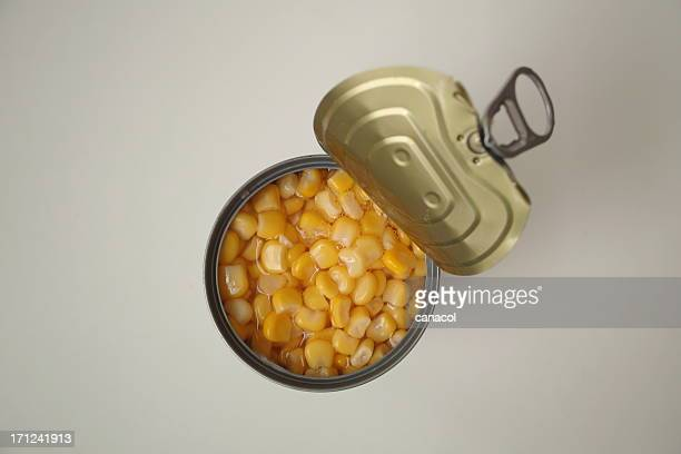 Open the canned corn