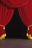 Open theater curtain