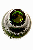 Open top of beer bottle, close up
