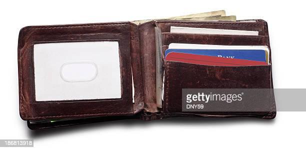 Offene Brieftasche