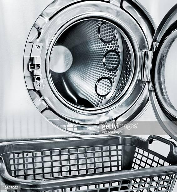 Open Washing Machine and a empty basket