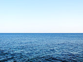 Open water with copy space