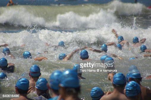 Open water swimming : ストックフォト